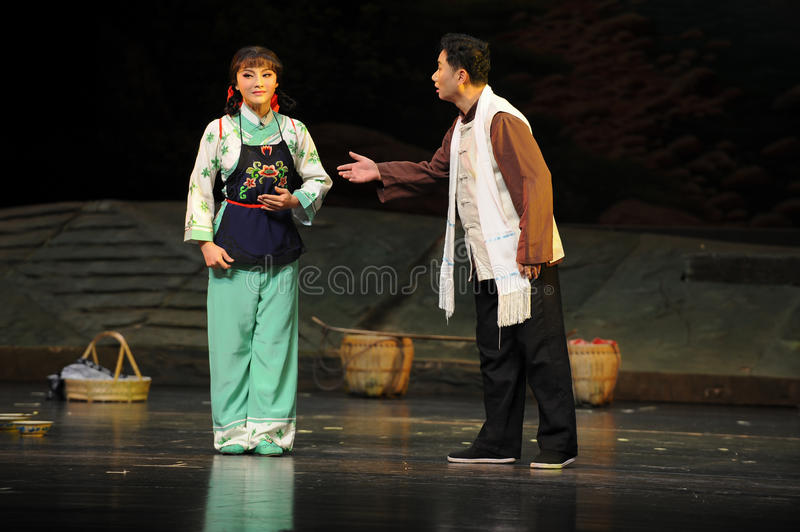 Show clearly one's mind - Jiangxi opera a steelyard. Jiangxi opera a steelyard is adapted from a true story: the last century fortys, the protagonists father stock images