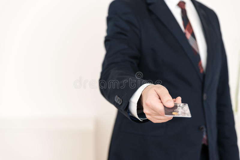 Show credit card payment stock photo