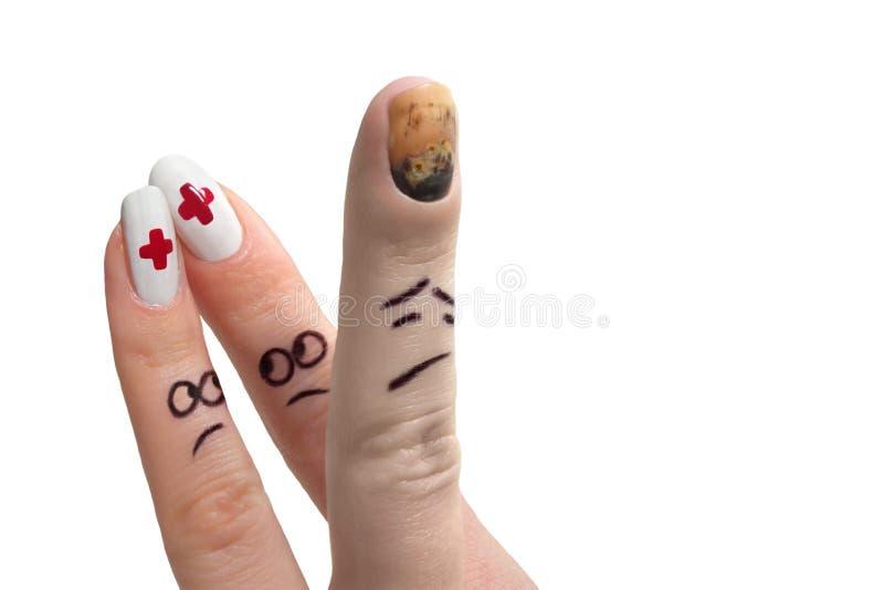 show för 2 finger arkivbilder