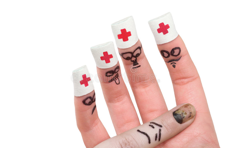 show för 5 finger arkivfoton