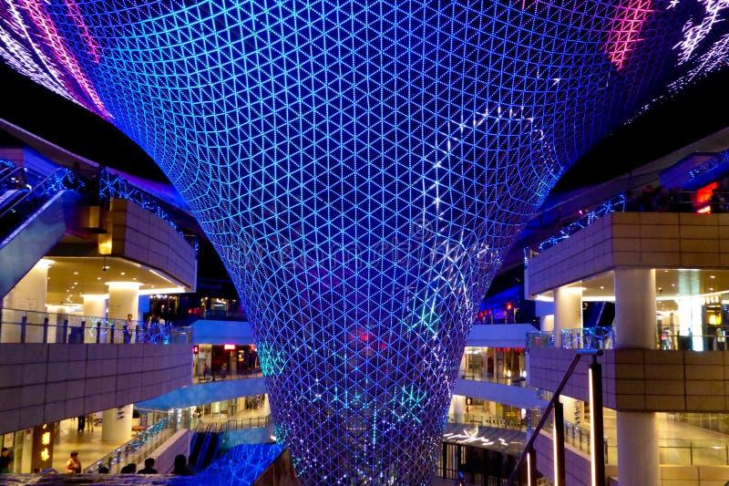 Show för ljus för solstråle för axel för Shanghai världsexpo royaltyfri fotografi
