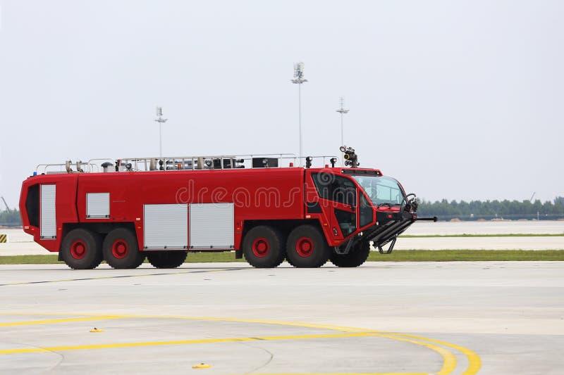 show f?r firetruck f?r motorbrand gammal arkivbild