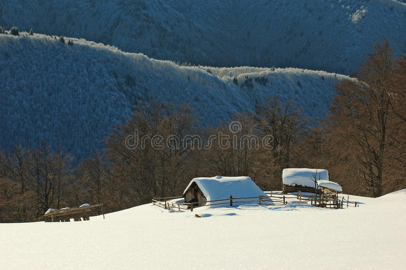 A show house in the Mountains royalty free stock photo