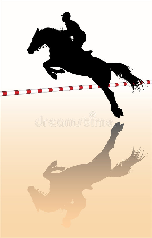 Download Show jumping stock vector. Image of sport, competition - 4383775