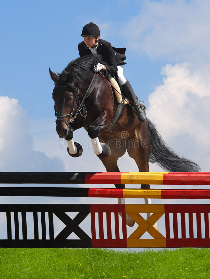 Download Show jumping stock photo. Image of jumper, active, rider - 6445754