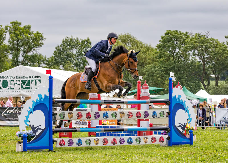 Horse Show Jumping at the Hanbury Countryside Show, England. royalty free stock photography