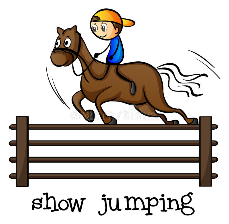 Download A show jumping stock illustration. Illustration of fence - 36428913
