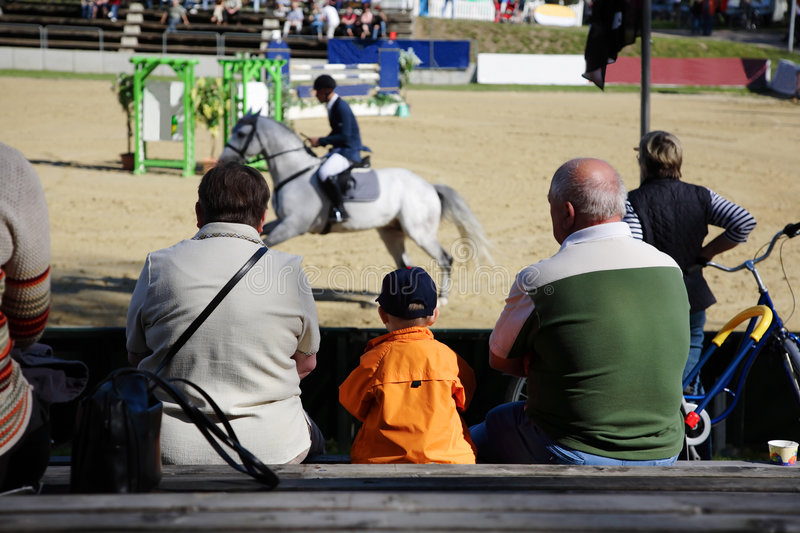 Download Show Jumping And Spectators 2 Stock Photography - Image: 2362132