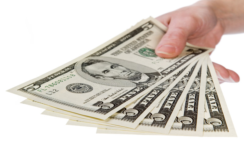 Download Show Me The Money, 5 Dollar Stock Photo - Image: 1884098