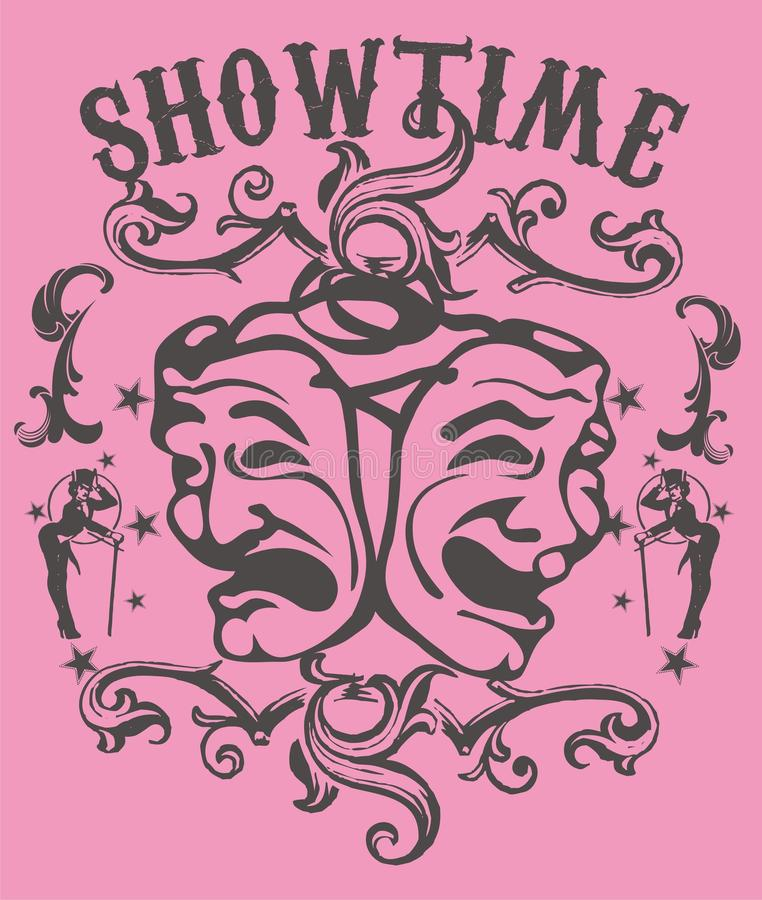 Download Show time stock vector. Image of acting, face, isolated - 13864122