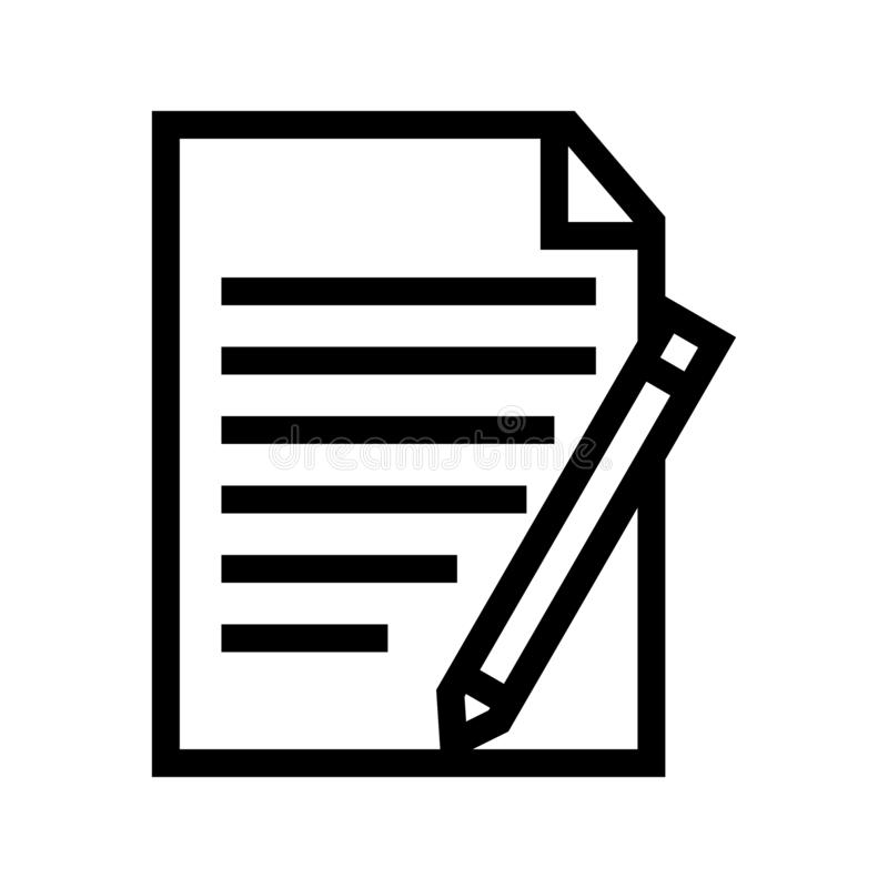 Show Track Changes Functions Document Icon. Vectorn stock illustration
