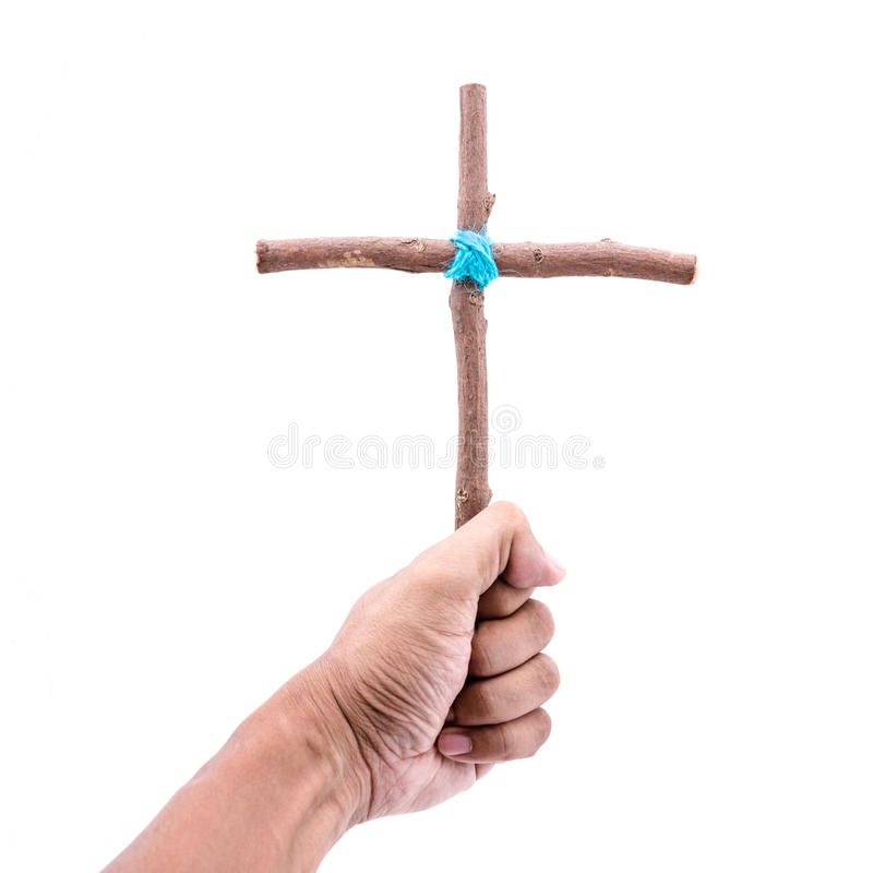 Show wooden cross royalty free stock photos