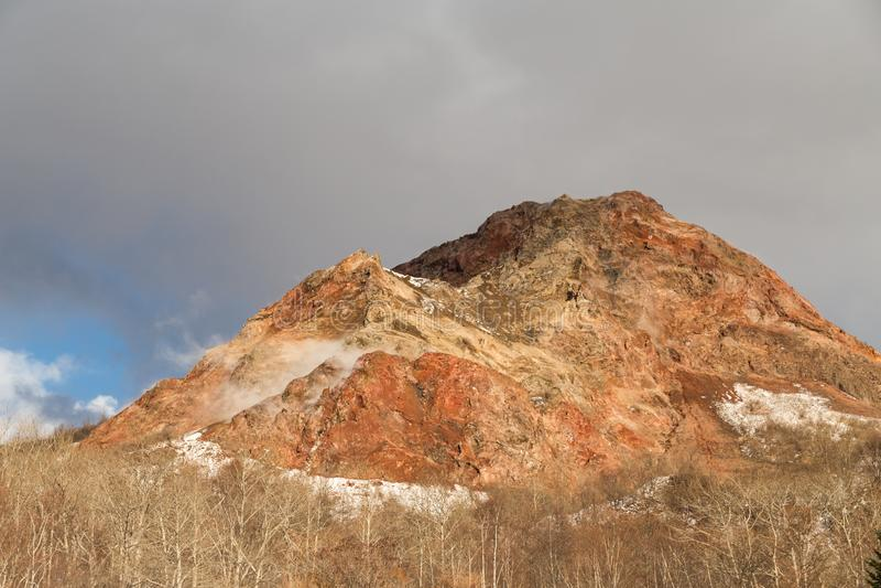 Showa Shinzan, neuer Berg hergestellt von der vulkanischen Eruption in 19 lizenzfreies stockfoto