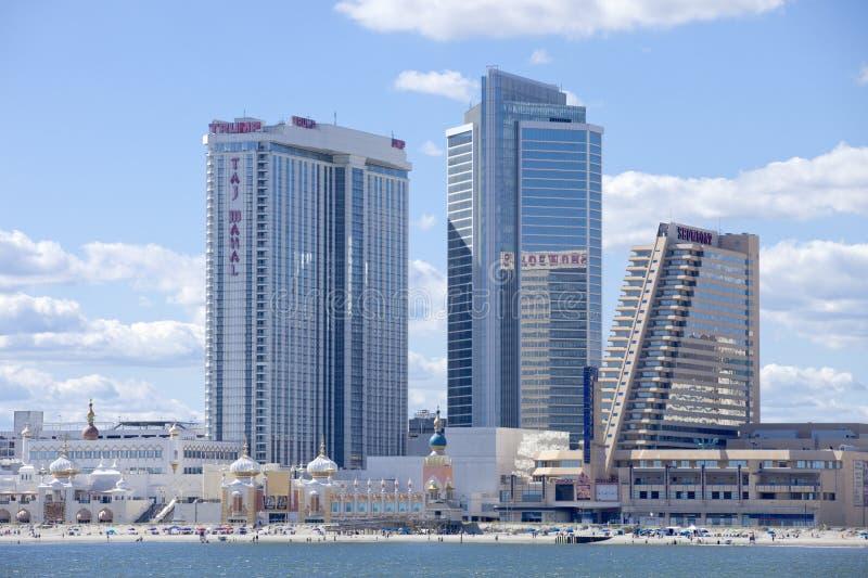 Showboat en Taj Mahal Casino in Atlantic City royalty-vrije stock foto's
