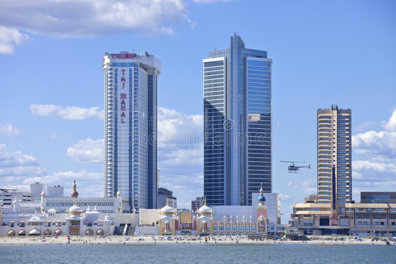 Showboat en Taj Mahal Casino in Atlantic City stock fotografie