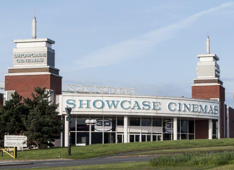 Showcase cinema building royalty free stock photos