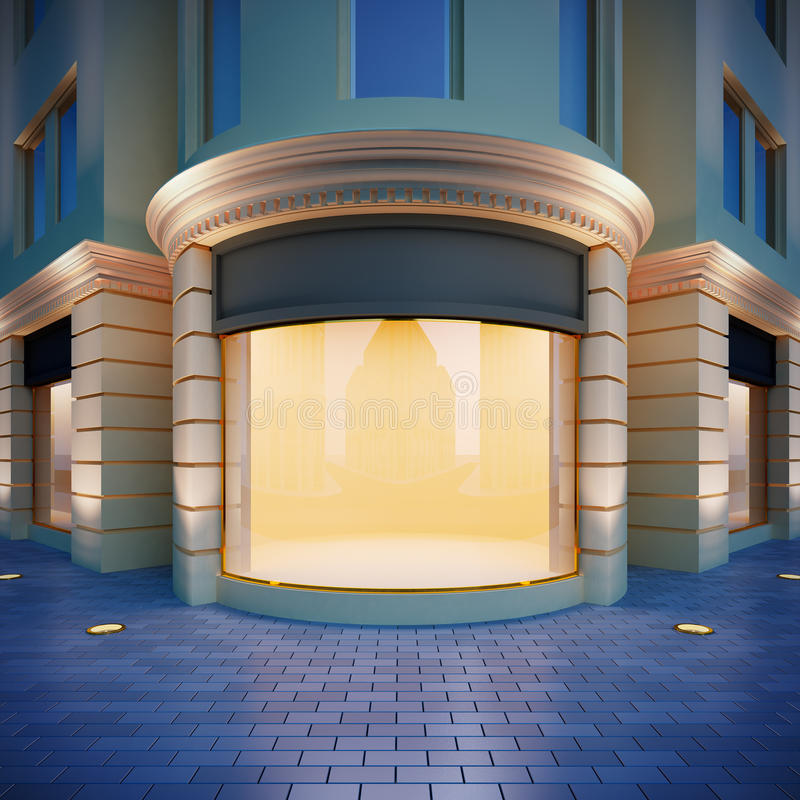Showcase in classical style. royalty free illustration