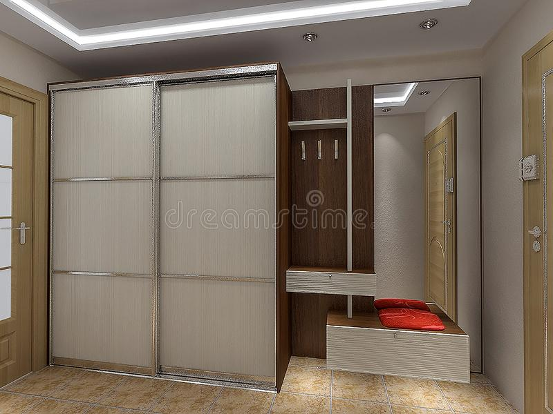 download modern entrance hall design ideas 3d render stock illustration illustration of dressing - Interior Design Ideas Hall
