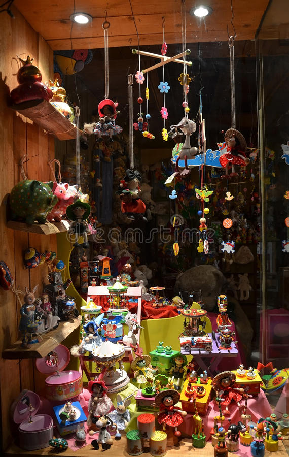 Showcase dos brinquedos fotos de stock royalty free