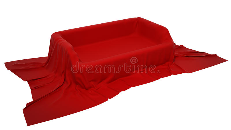 Showcase Pedestal Covered With Cloth Stock Photography