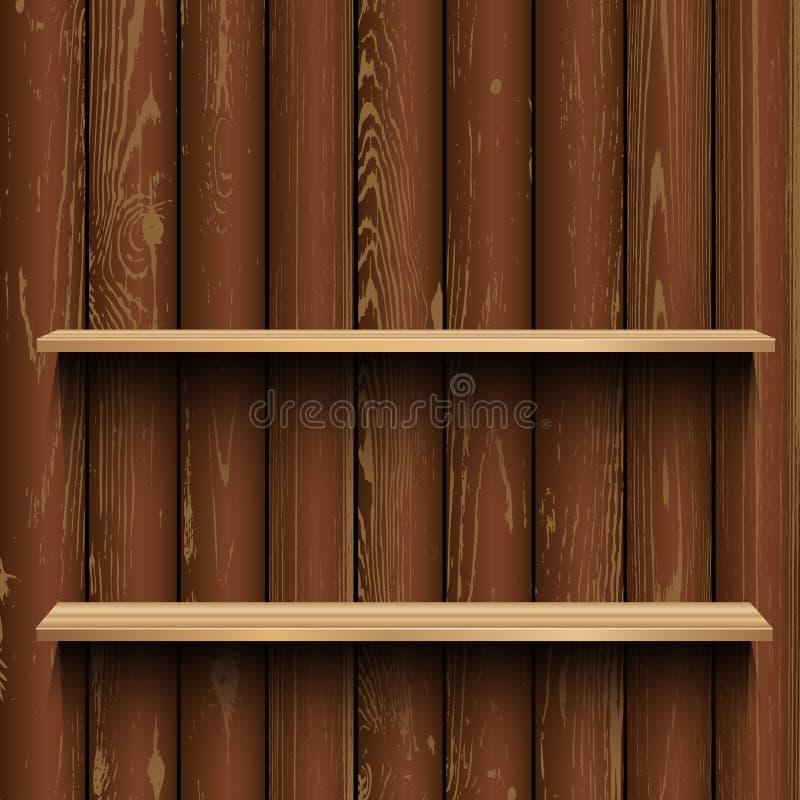Store wood showcase wooden background stock illustration
