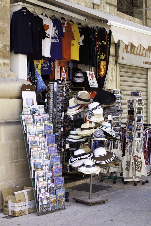 Showcase van herinneringswinkel in Valletta, Malta royalty-vrije stock foto