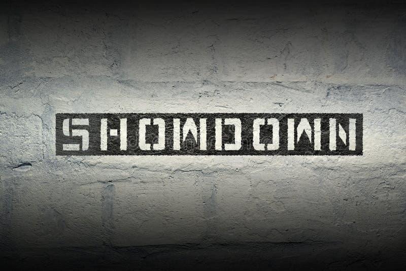 Showdown WORD GR royalty free stock photo