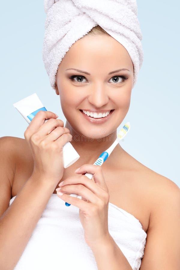 Download After shower stock image. Image of girl, medicine, morning - 20821845