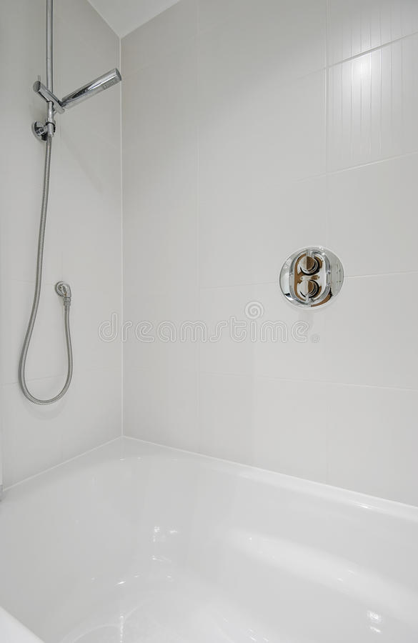 Shower attachment detail stock photo. Image of interior - 12432826