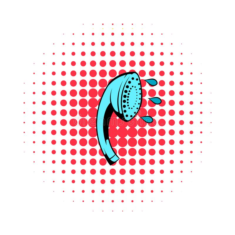 Shower bath comics icon. Isolated on a white background royalty free illustration