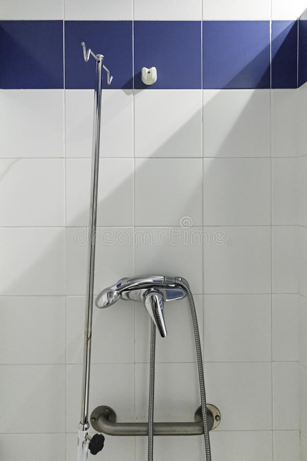 Shower in bathroom stock photography