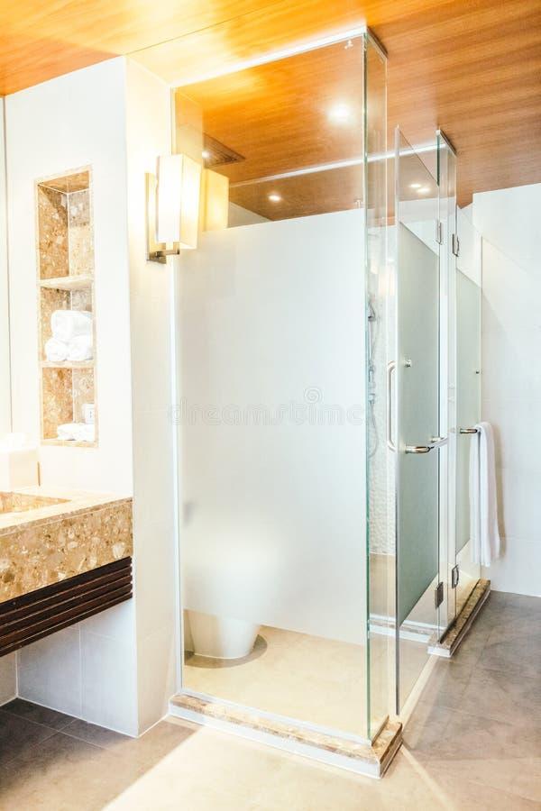 Shower box. Decoration in bathroom interior - Vintage light Filter royalty free stock photos