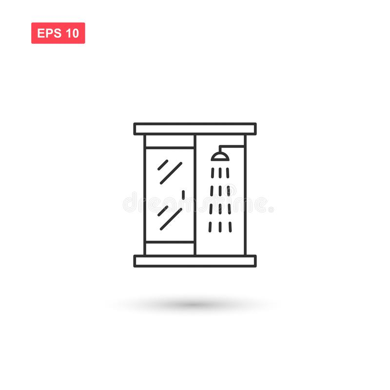 Shower cabin icon vector isolated 2. Eps10 vector illustration