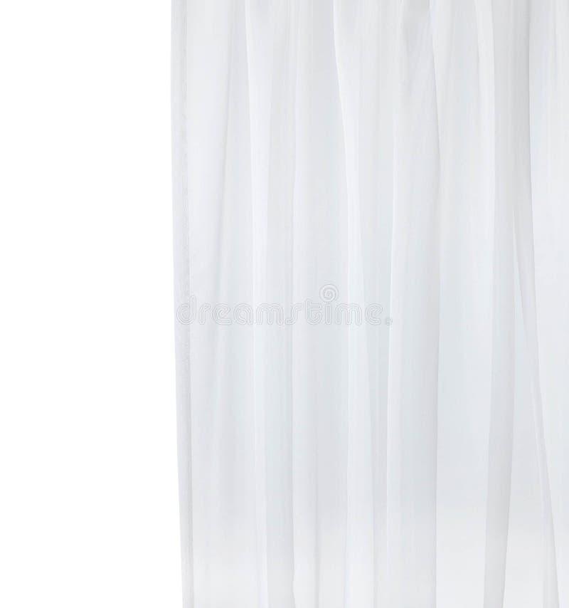Shower curtain isolated. On white background stock image