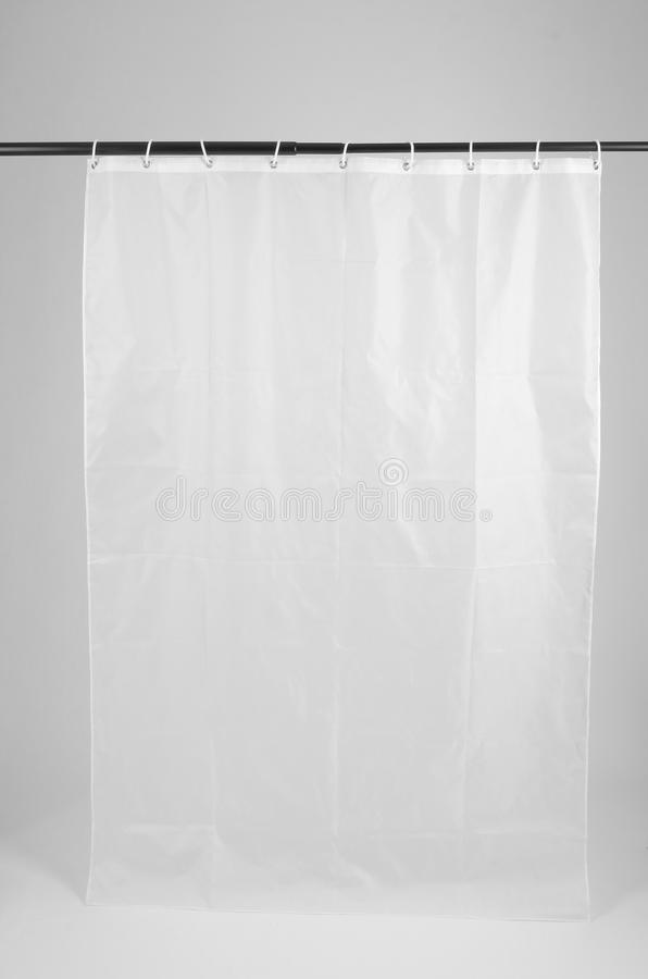 Shower curtain. With white background royalty free stock photos