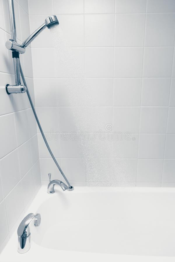 Shower with flowing water royalty free stock photography