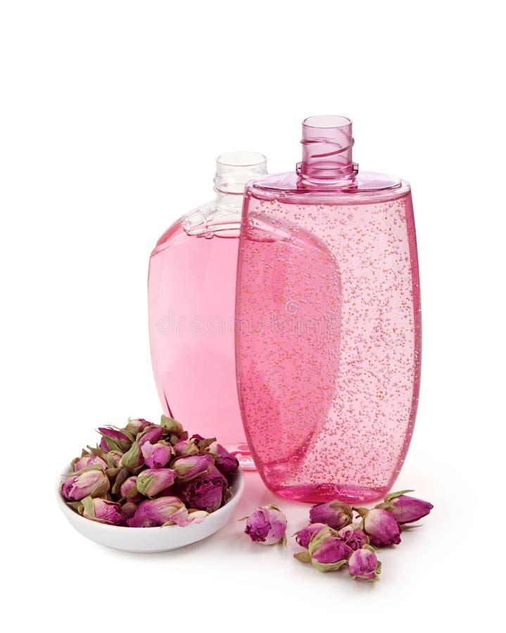 Shower gel and shampoo stock photo