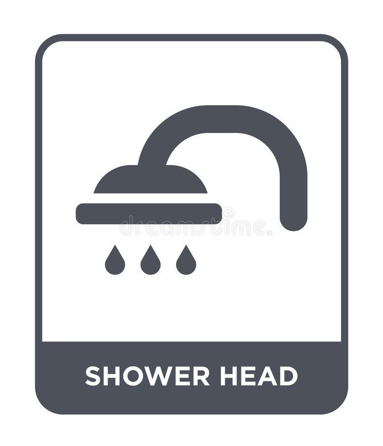 shower head icon in trendy design style. shower head icon isolated on white background. shower head vector icon simple and modern vector illustration