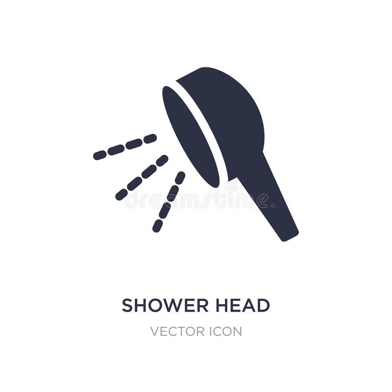 shower head icon on white background. Simple element illustration from Beauty concept vector illustration