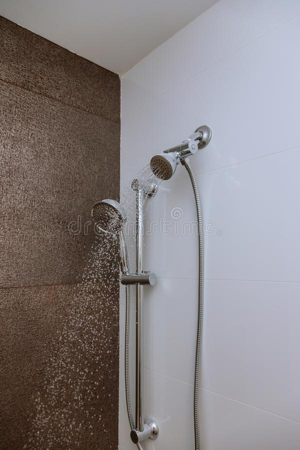 Shower head with dropping water royalty free stock images
