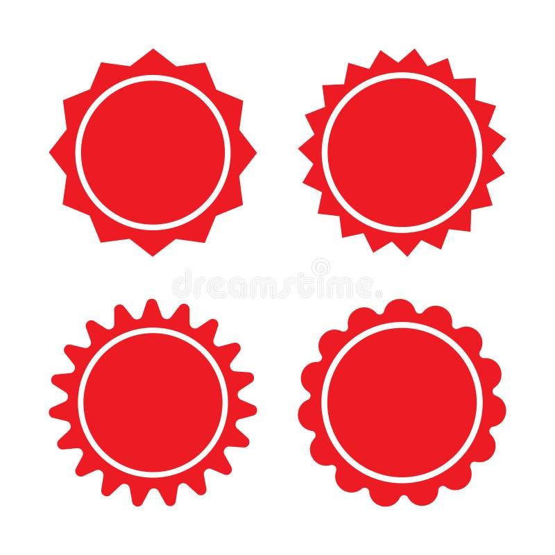 Shower icon vectorSet of red retro blank starburst, sunburst badges. Vector illustration. Set of red retro blank starburst, sunburst badges. Vector illustration stock illustration