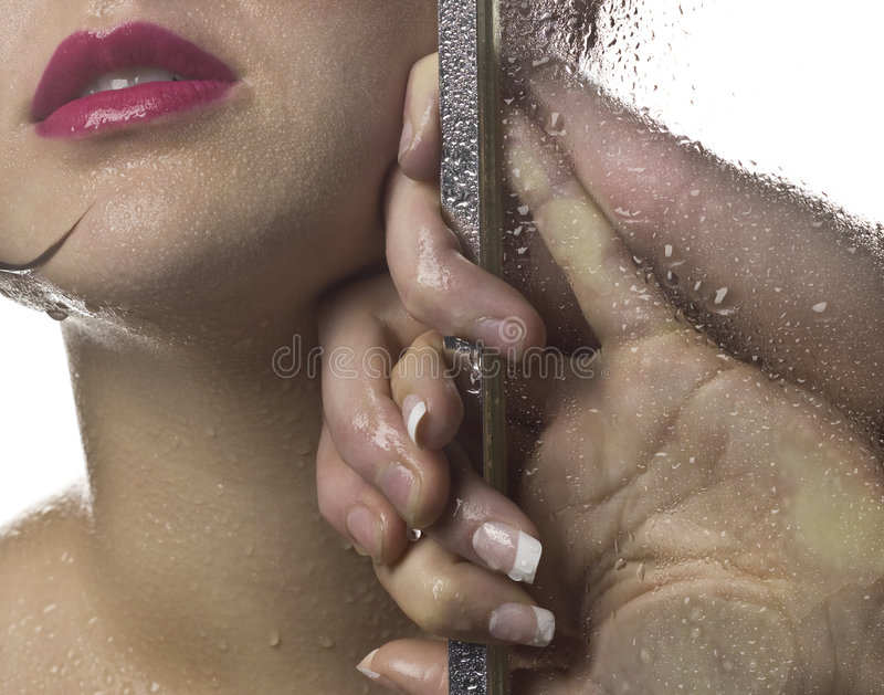 Download Shower scene stock photo. Image of hands, passion, lips - 6727264