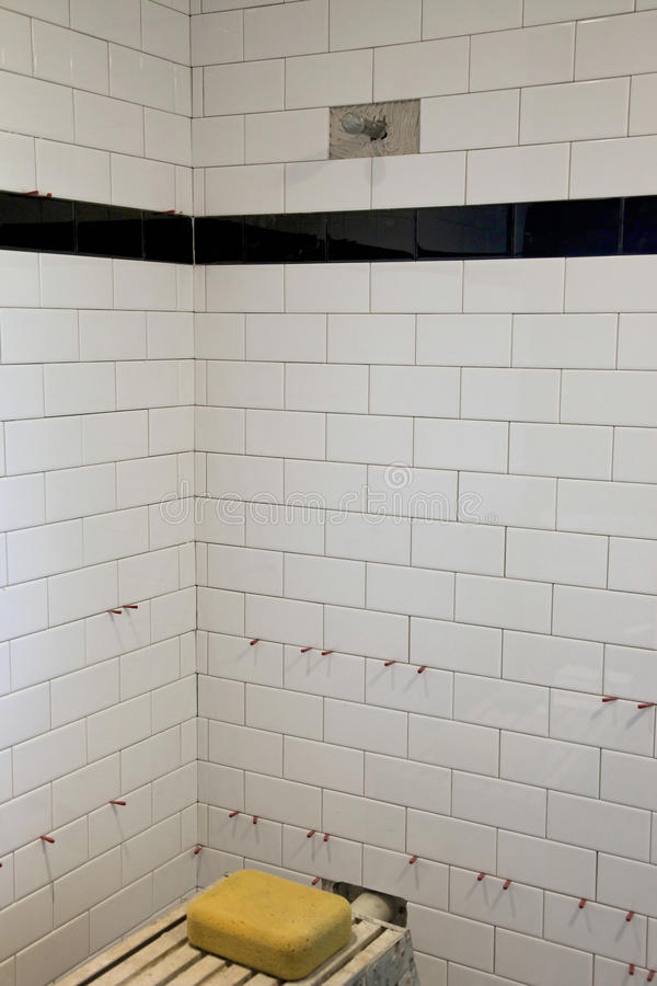 Download Shower Tile stock image. Image of white, wall, spacers - 12789827