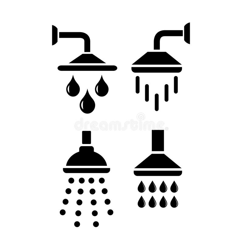 Download Shower Vector Icon Stock Vector - Image: 83720242