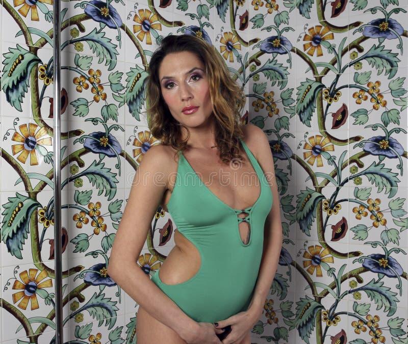 Shower woman stock photo