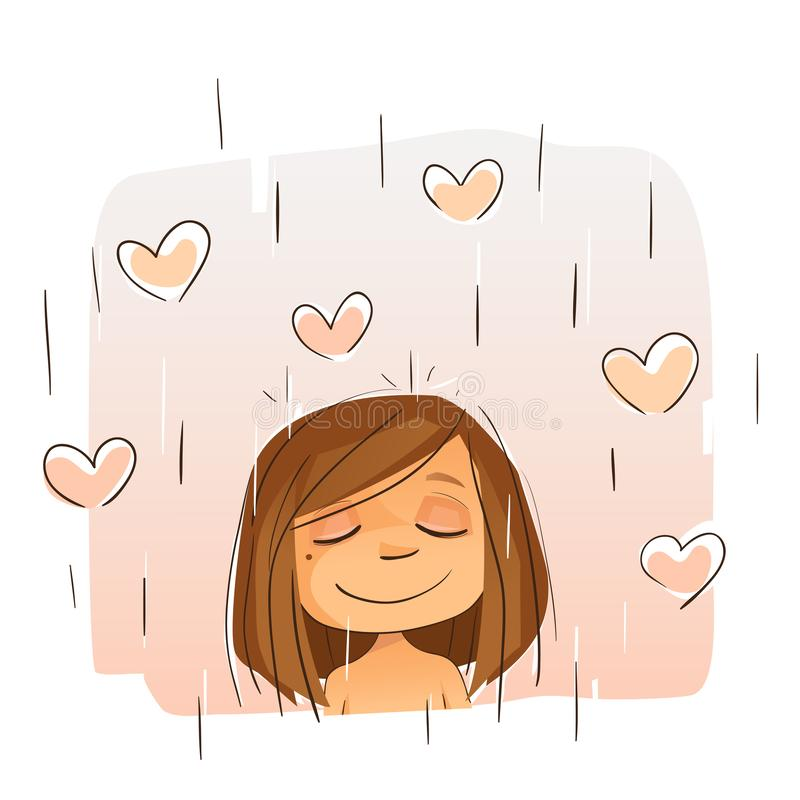 Shower Yourself With Love royalty free illustration