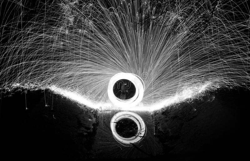 Download Showers Of Hot Glowing Sparks Stock Image - Image of gray, circle: 36494187