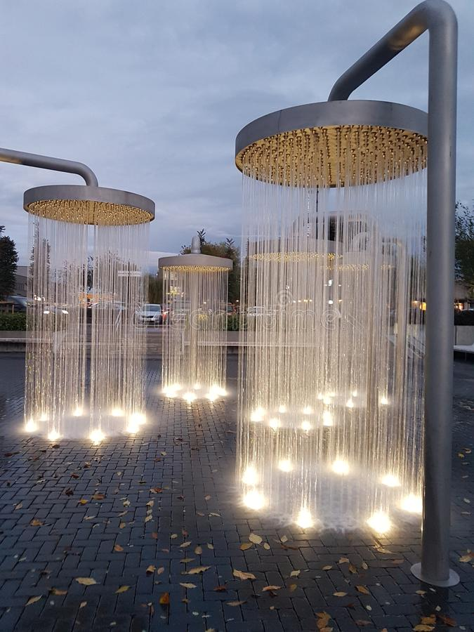 Showers in Vilnius royalty free stock images