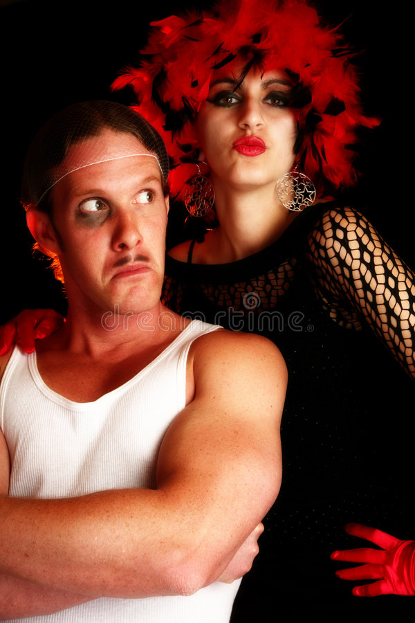 Download Showgirl And Tough Guy Royalty Free Stock Image - Image: 2245966