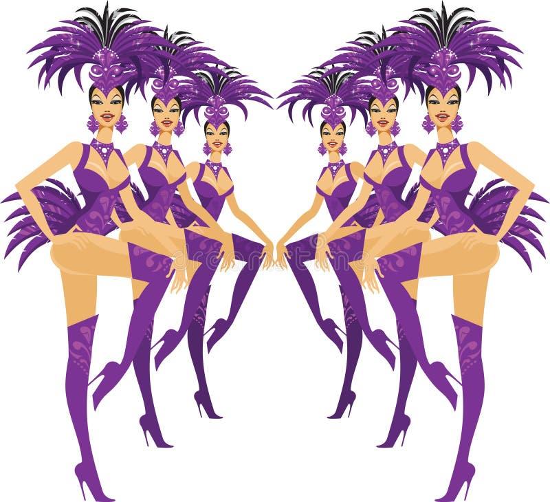 Showgirls vector illustratie